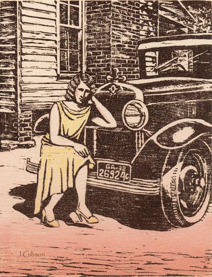 1932, Woodcut, Joyce Gibson