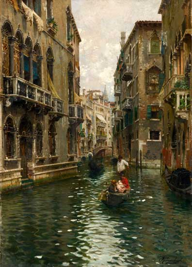 A Family Outing on a Venetian Canal, Santoro