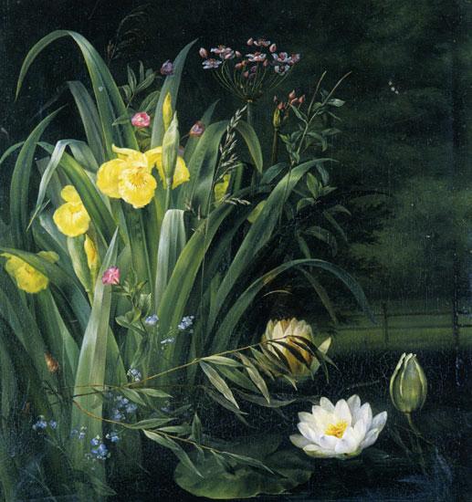 A Lily Pond,Hermania Sigvardine Neergaard (22X23.5)