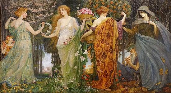 Masque of the Four Seasons, Walter Crane