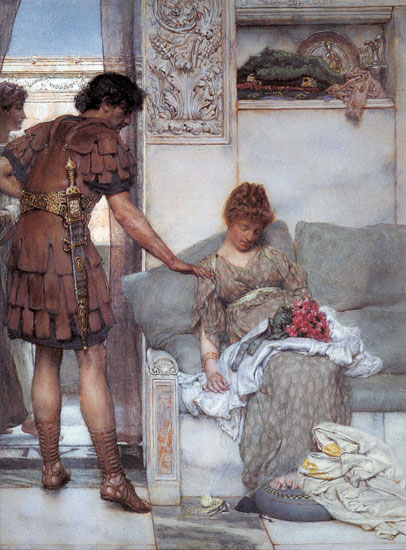 A Silent Greeting, Sir Lawrence Alma-Tadema (16.25X22)