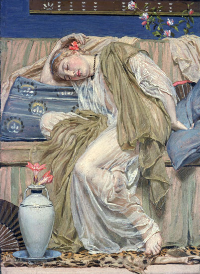 A Sleeping Girl, Albert Moore (22x30.1)