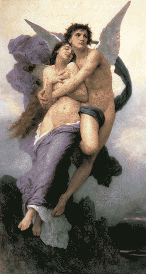 Abduction of Psyche, Bouguereau (16X30)