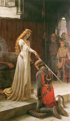 The Accolade, Edmund Blair Leighton