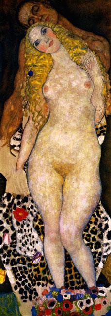Adam and Eve, Gustav Klimt (12X34)