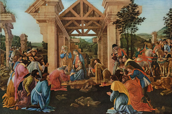 Adoration of the Magi, Botticelli, 20X30