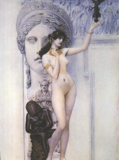 Allegory of Sculpture-1889, Gustav Klimt