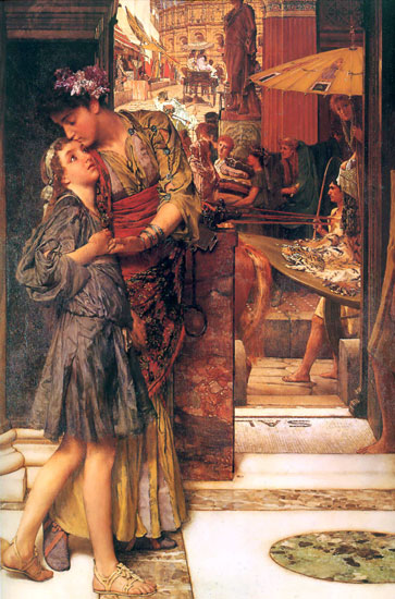 A Parting Kiss, Sir Lawrence Alma-Tadema (16X24.25)