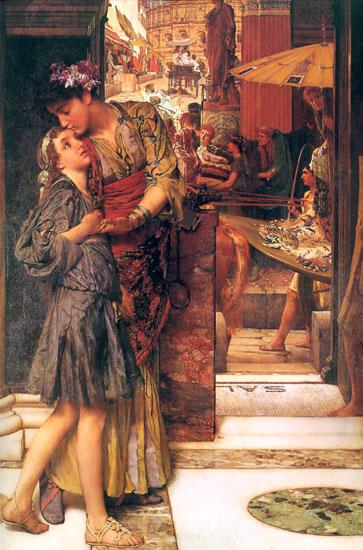 A Parting Kiss, Sir Lawrence Alma-Tadema (16X24.25)