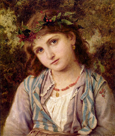 An Autumn Princess, Sophie Anderson (16X19)