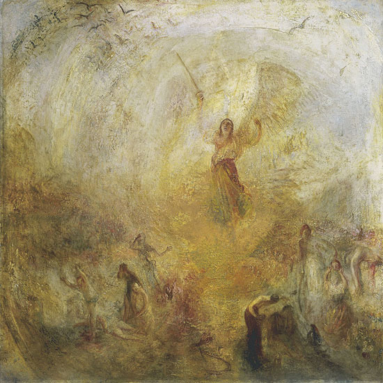 Angel Standing in the Sun, Turner, (22x22)