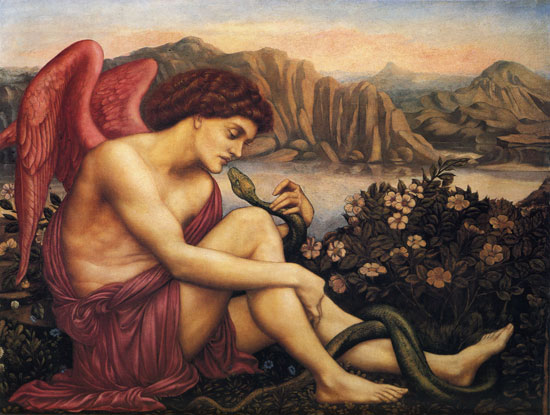 The Angel with the Serpent, Evelyn De Morgan (22z29)