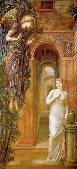 The Annunciation, Edward Burne-Jones (15.5X34)