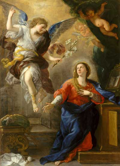 The Annunciation, Albrecht Durer (16X22)