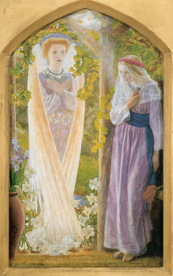The Annunciation, Arthur Hughes (16X25.5)