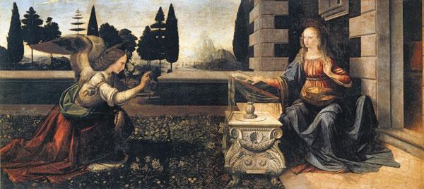 The Annunciation, da Vinci (20X44.75)