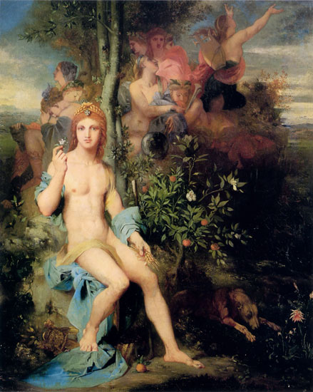 Apollo and the Nine Muses, Gustave Morea  , Gustave Moreau