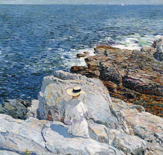 The South Ledges, Appledore,Childe Hassam (20X21)