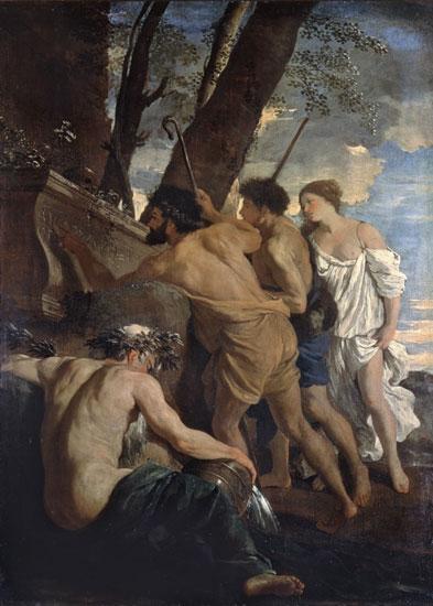 Arcadian Shepherds, Poussin (20X28)