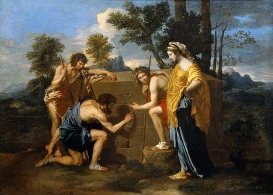 Arcadian Shepherds, Poussin