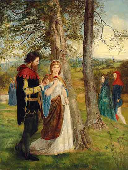 Lancelot and Queen Guinevere, James Archer