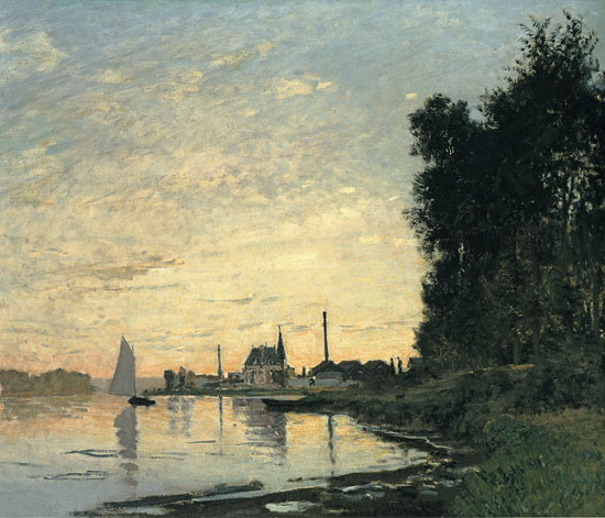 Argenteuil Garden, Argenteuil Late Afternoon, Claude Monet