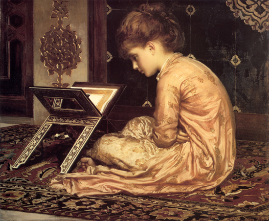 At a Reading Desk, Fredric, Lord Leighton (18X22)