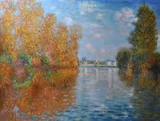 Autumn Efect at Argenteuil, Monet (22X27)