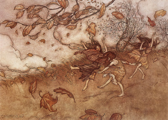 Autumn Fairies, Arthur Rackham (16X21.5)