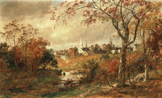 Autumn Landscape, Saugerties,  Cropsey (20X33)
