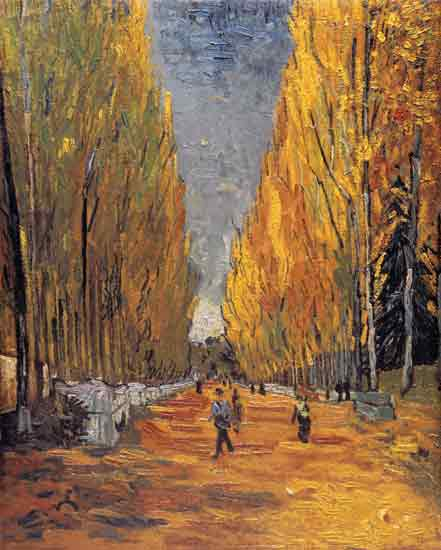 Autumn Les Alyscamps, Vincent van Gogh