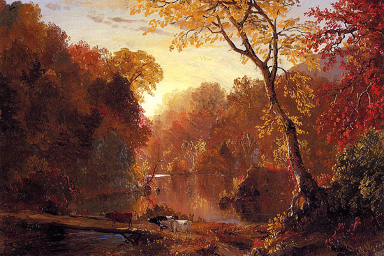 Autumn in America, Fredrick Edwin Church (12X18)