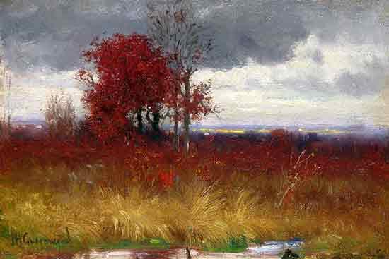 Autumn Scene with Golden Brush, Joseph Greenwood