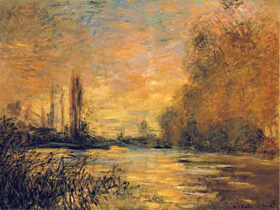 Autumn, Seign at Argenteuil, Monet (16X21)