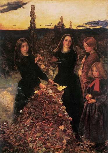 Autumn Leaves, Millais (18X25.5)
