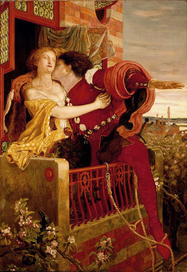Romeo and Juliet, Ford Maddox Brown (18X22)