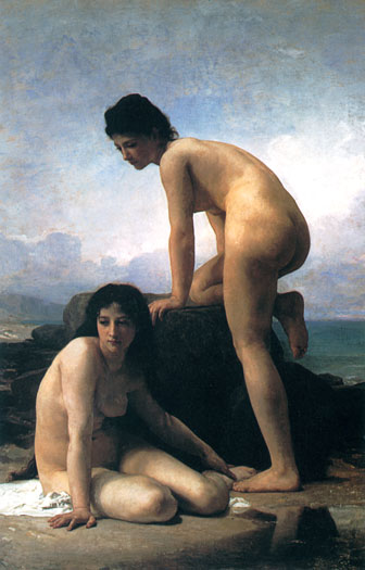 The Bathers, Bouguereau (16X25)