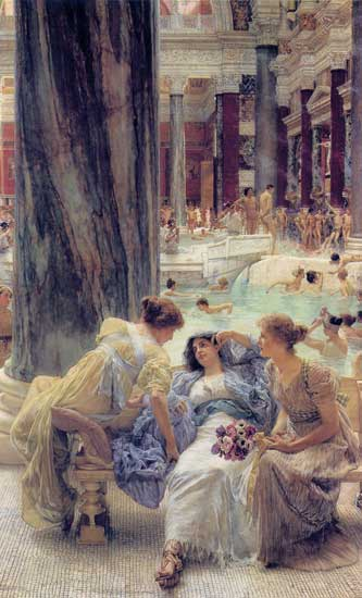 The Baths of Caracalla, Sir Lawrence Alma-Tadema,