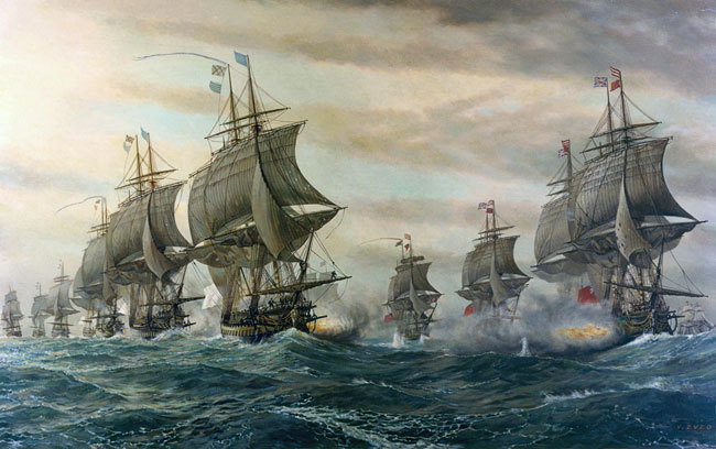 The Battle of the Virginia Capes, Zveg (22X35)