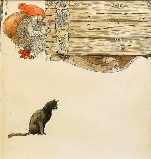Julkort, John Bauer