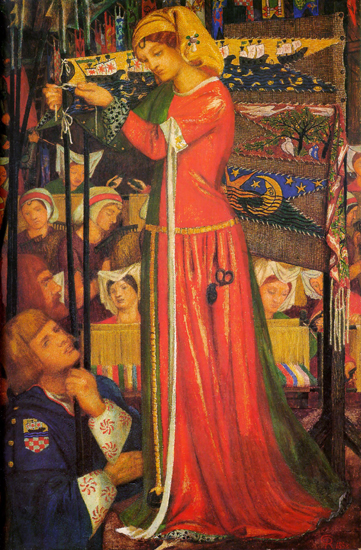 Before the Battle, Rossetti (22X33.5)