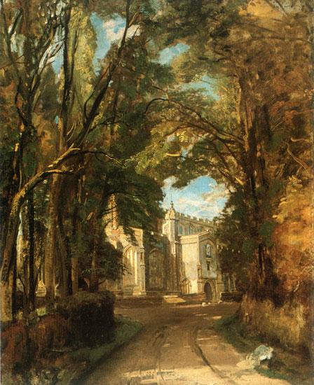 East Bergholt Church, John Constable (22X27)