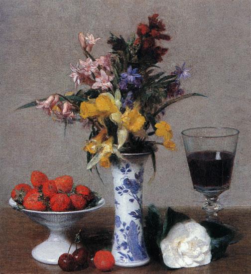 Bethrothal Still Life, Henri Fantin-Latour (11X12)