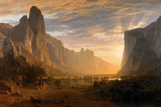 Looking Down Yosemite Valley, Albert Bierstadt (24X36)