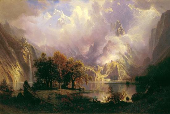 Rocky Mountain Landscape, Albert Bierstadt (27X40)