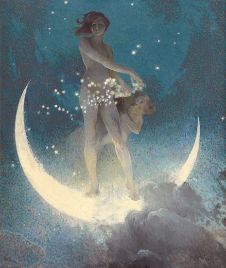 Spring Scattering Stars, Edwin Howland Blashfield (22X26)