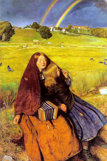 The Blind Girl, Millais (16X24)