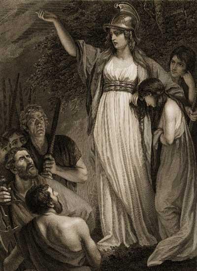 Boadicea the Warrior Queen, John Opie (16X22)
