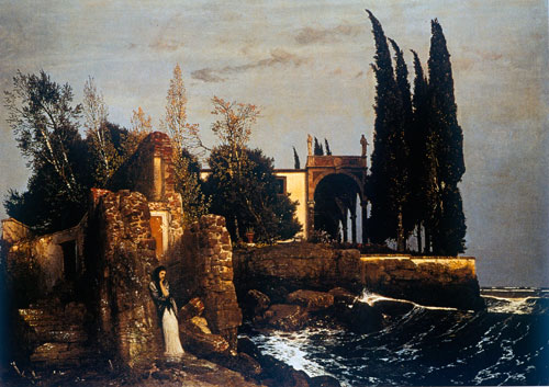 The Villa by the Sea, Arnold B�cklin (18X25.5)