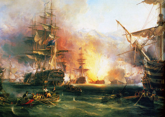 The Bombardment of Algiers, George Chambers (24X33.8)